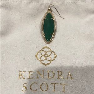 Auth. KENDRA SCOTT Dora Green Stone Earring